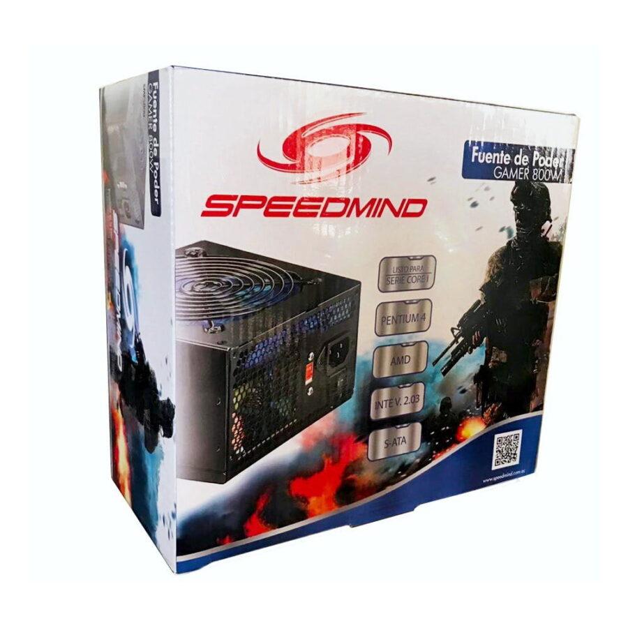 fuente de poder gamer speedmind 800w - 3