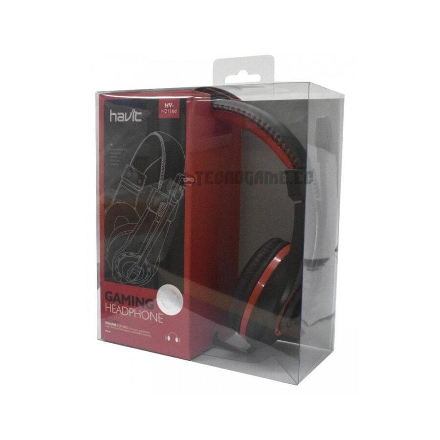 Audifonos Gamer Havit HV-H2116D-RD - 2