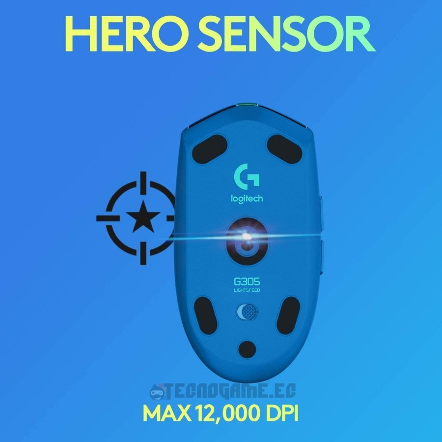 Mouse gamer logitech G305 azul - 3