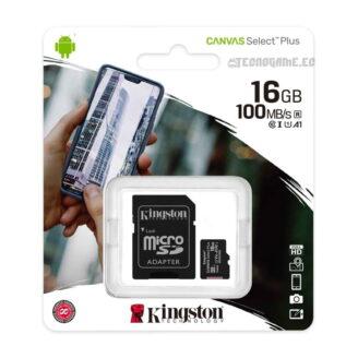 Memoria Micro SD Kingston Canvas 16Gb - 1
