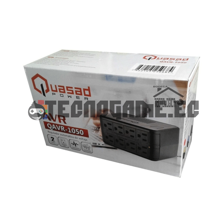 Regulador de Voltaje 8 Tomas - Quasad QAVR-1050