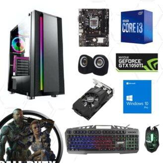 Cpu gamer i3 10100f 10ma 1050ti - 1