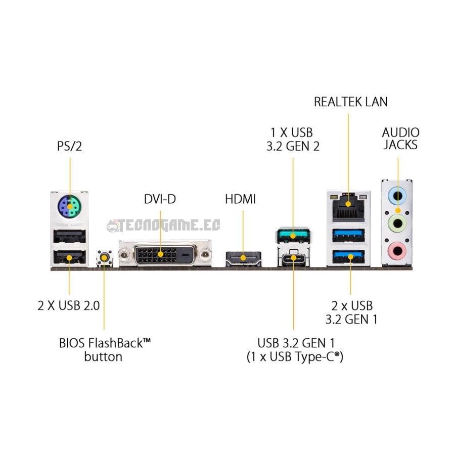 mainboard asus tuf b450m plus II - 2